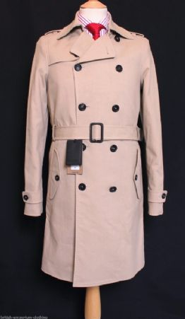 DSQUARED2 DSQ2 Beige 100% COTTON DB Trench Coat Made In ITALY Ita 54/Uk44 BNWT